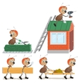 Set Ant worker vector image