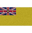 Flags Niue on denim texture vector image