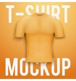 Orange t-shirt on background Product mockup vector image