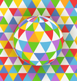Abstract background of colorful pattern on sphere vector image