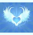 Angel's heart vector image