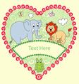 Animal decorative vector image