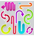 colorful arrows on grey background vector image