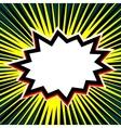 Empty comic sun beam speech bubble vector image