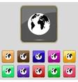 Globe sign icon World map geography symbol Set vector image