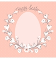 Happy Easter card with place for your text vector image