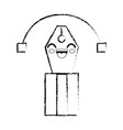 pen cartoon smiley vector image