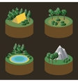 Set of isometric icons outdoor recreation vector image