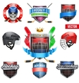 Set of Labels for ice hockey sport vector image
