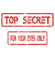 top secret for your eyes only vector image