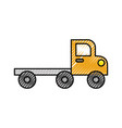 tow truck for transportation emergency cars vector image