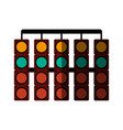 racer traffic light flat shadow vector image