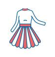 woman dress fashion vector image