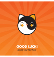 Lucky cat card vector image vector image