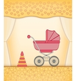Yellow baby card vector image vector image