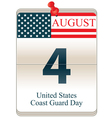 United States Coast Guard Day vector image