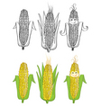 corn cartoon vector image