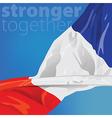 France Stronger together vector image