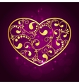 gold heart textured vector image vector image