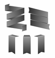 Set of simple monochrome ribbon banners vector image