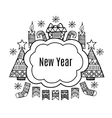 New Year banner sketch design vector image
