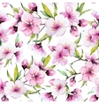 Watercolor sakura pattern vector image