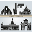Bologna landmarks and monuments vector image