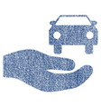 car gift hand fabric textured icon vector image