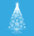 christmas tree made of snowflakes vector image