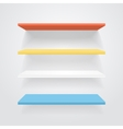 Color shelves vector image