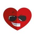 cool sunglasses heart cartoon icon vector image