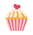 delicious cupcake isolated icon design vector image