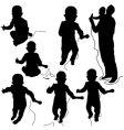 dj silhouettes vector image