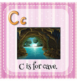 Flashcard letter C is for cave vector image