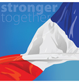 France Stronger together vector image