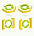 isometric icons vector image