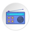 Radio icon cartoon style vector image