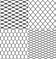 Set of Wires Seamless Backgrounds vector image