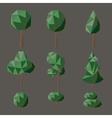 Set polygonal deciduous vector image
