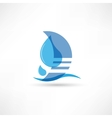 pure and wholesome water abstraction icon vector image vector image