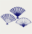 Japanese folding fan vector image vector image