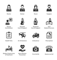 Medical and Health Care Icons Set 1 - Services vector image vector image