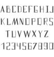 Grunge ethnic alphabet vector image