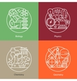 set of logos biology physics chemistry vector image