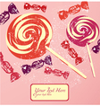 Vintage Confectionery Background vector image vector image