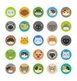 Cute cat heads icons vector image