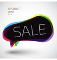 Abstract 3d speech sale bubble icon background vector image