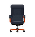 boss or ceo chair leather armchair vector image