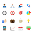 Business and Finance Icons with White Background vector image