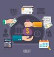money flat composition vector image